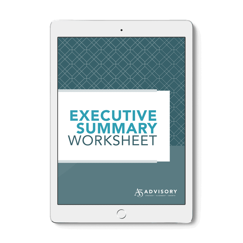 A5 Advisory Executive Summary Worksheet